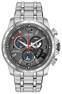 Citizen Men's Eco-Drive BY0100-51H Chrono-Time A-T Analog Display Silver Watch