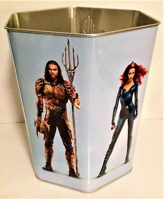DC Comics: Aquaman 2018 Movie Theater Exclusive 130 oz Metal 6-Sided Popcorn Tin