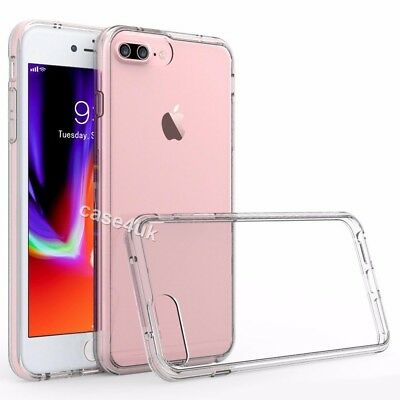 Luxury Ultra Slim Shockproof Silicone Clear Case Cover for iPhone 7