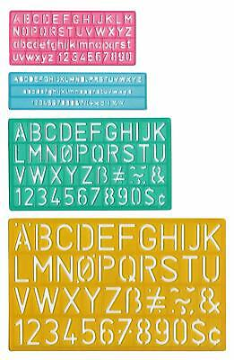 Letter Stencil Guide Alphabet Number Symbol Template (4 Size) Art School Drawing
