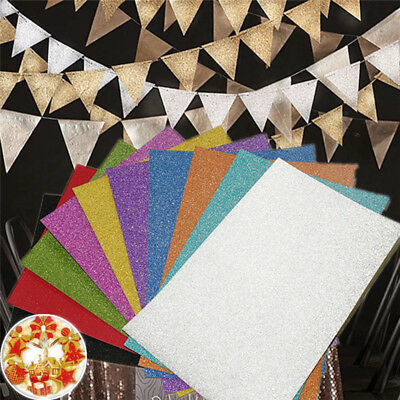 A4 Glitter Color Paper Craft DIY Card Making Material Christmas Party Decor