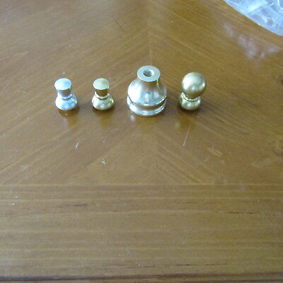 "BUDWEISER Gold 1 1/2"" Ferrule & 3 tops Beer Tap Handle Replacement Parts BUD LT"