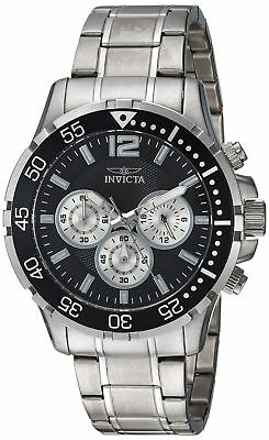 New Mens Invicta 23665 'Specialty' Chronograph Black Dial Steel Bracelet Watch