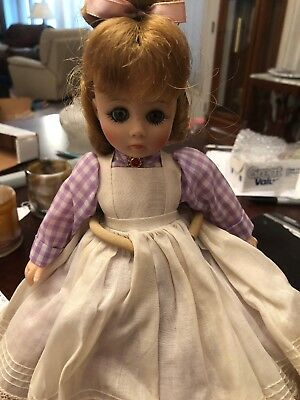 Madame Alexander Little Women Meg 15 inch hard plastic doll, 1950's with Curlers