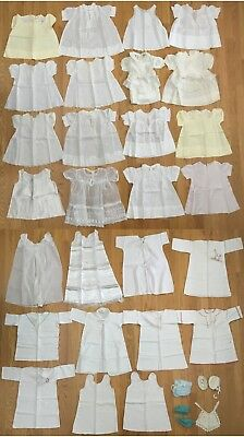 Vintage Baby Clothes Lot 27 Lace 50s Doll Girls Dresses Slips + + SCP