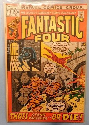 Marvel Fantastic Four #119 9.0 VF/NM Black Panther!