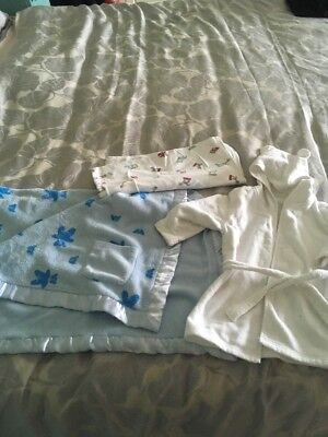 Baby Boy Blankets & Dressing Gown