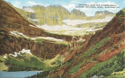 Grinnell Lake and Garden Wall - Glacier National Park - Unposted PC