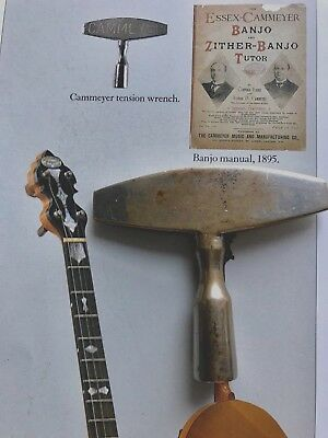 "Early 1900s Original ""CAMMEYER"" Banjo Wrench Key Tension Tool England RARE"