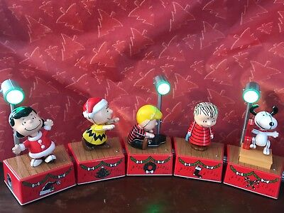 Hallmark Peanuts Christmas Dance Party 2017 Red Special Edition Set