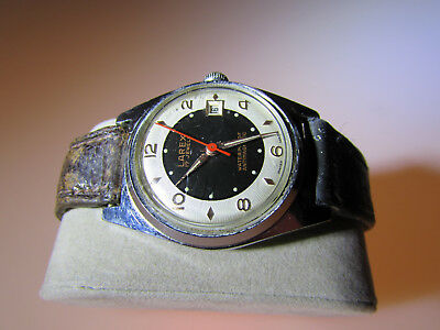 Vintage Gents Larex Watch Bull Eye Dial Swiss Made 17 Jewels