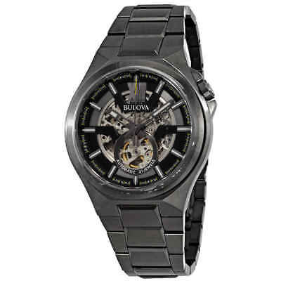 Bulova Classic Automatic Gunmetal Skeleton Dial Men's Watch 98A179