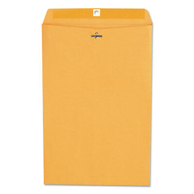 Kraft Clasp Envelope, Center Seam, 28lb, 10 x 15, Brown Kraft, 100/Box