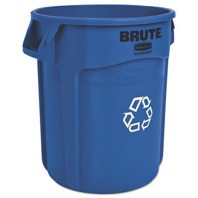 Brute Recycling Container, Round, 20 gal, Blue