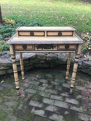 Antique Country American New England Paint Decorated Dressing Table