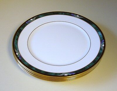 Set 4 Lenox Green Debut Collection KELLY Bone China Bread & Butter Plates  NWT