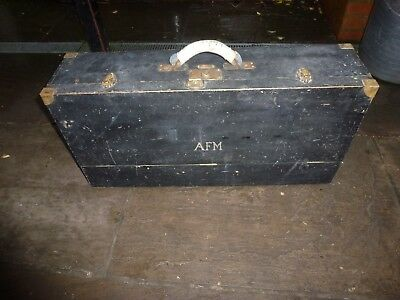 Vintage wooden joiners carpenters tool box chest, 2 drawers handle hand made