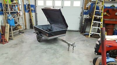 Cyclemate 2000 high deck motorcycle cargo trailer