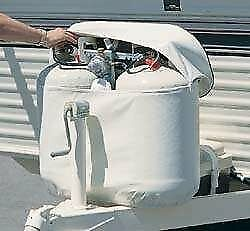 Adco 2113 White Rv Propane Tank Cover