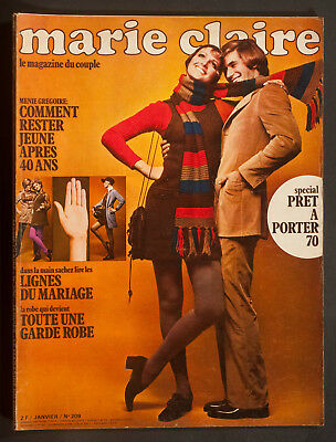 'marie-Claire' French Vintage Magazine Pret A Porter Issue January 1970