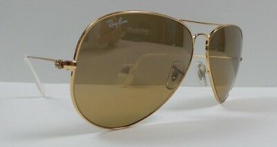 2ff91ae42f9 NEW RAY BAN Aviator Sunglasses Gold Frame RB 3025 001 3K Brown ...