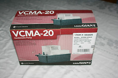 Little Giant 554425 VCMA-20ULS Condensate Removal 1/30 HP Pump with Safety Switc