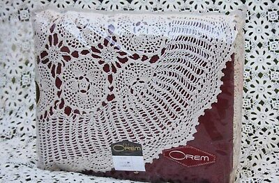 Vintage New In Pack Crochet Cotton Queen Size Boho Bedspread