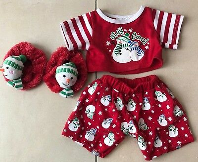 Build a Bear Snowman / Weihnachts Outfit