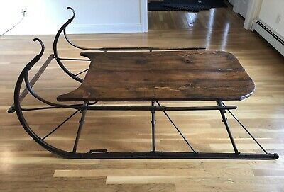 Large Antique Sled Coffee Table/Display/Country/Rustic/Lodge/Decorator/Christmas