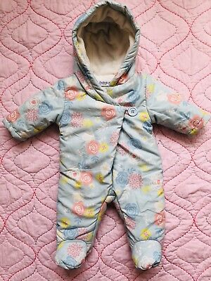 d7f7b5365 BABALUNO BABY GIRL FLOWER-PRINTS SNOWSUIT , Size 0-3 months - £4.50 ...