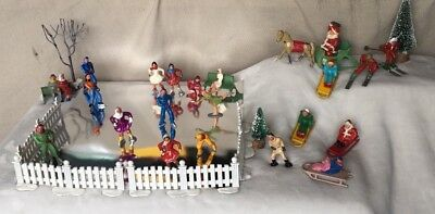 BARCLAY Christmas display 30 pieces lead figures NO RESERVE