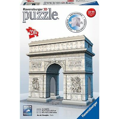 New! 12514 Ravensburger Arc de Triomphe 3D Jigsaw Puzzle 216 pieces Age 12 year+