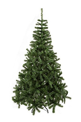 GOJOOASIS 6' Artificial Christmas Tree Premium Spruce Hinged with Metal Stand