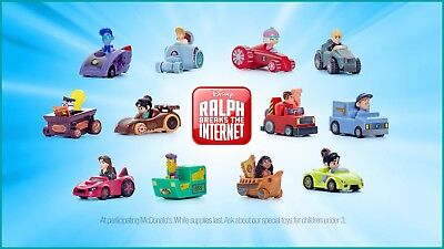 2018 McDonald's Wreck-it Ralph Breaks the Internet Happy Meal toys complete set!