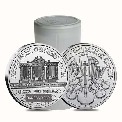 Roll of 20 - 1 oz Austrian Silver Philharmonic Coin BU (Random Year)