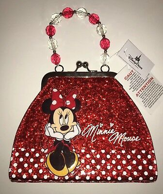 Disney Parks Minnie Mouse Signature Red Polka Dot Purse Small