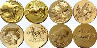 Athena and Pegasus 4 Famous Greek Coins, Percy Jackson Fans (4AthPeg-G)
