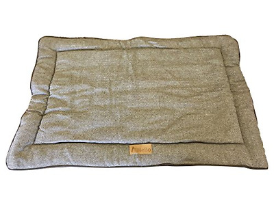 Ellie-Bo Reversible Tweed and Brown Faux Fur Mat Bed for Extra Large 42 inch Dog