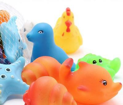 2pcs Mixed Different Animal Children Washing Baby Bath Toys Soft Rubber Float CN