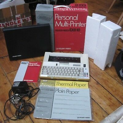 Silver Reed EXD1 Electric Electronic Typewriter Retro Multi Printer Tested Boxed