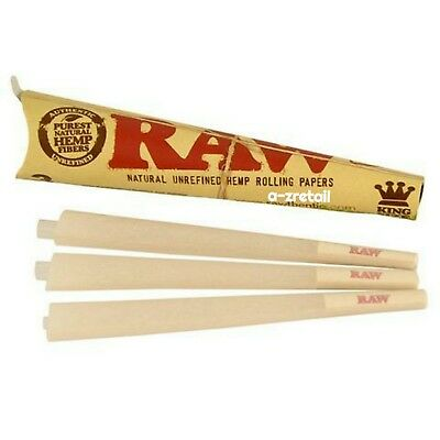 *AUTHENTIC* RAW Cones King Size Pre-Rolled Cones w/ Filter (100 Pack)