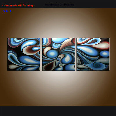 Handpainted Large Modern Colorful Abstract Oil painting Canvas Art Decor Framed