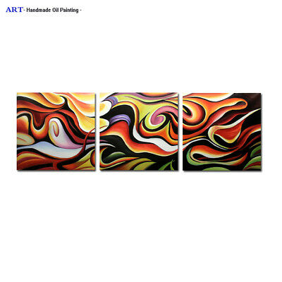 Large Framed Wall Art Modern Home Decor Colorful Abstract Oil painting On Canvas