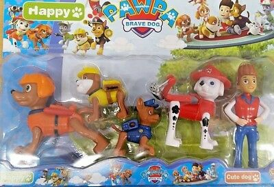 Paw Patrol 12cm Action Figures Pack Rescue Team Pack of 5 Figures Playset