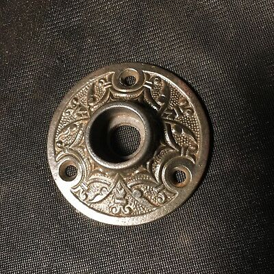 Antique  Victorian Eastlake Ornate Door Knob Rosette. Solid Cast Iron