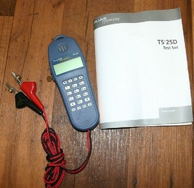 NEW Fluke Networks 25501009 TS25D Test Set With ABN Cord with Manuel