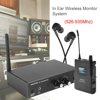 ANLEON S2 In-ear UHF Stereo Monitor System Personal LED Receiver 526-535Mhz