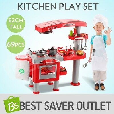 Kids Children Kitchen Pretend Play Cooking Set Toy Toddlers Home Dinner Cookware