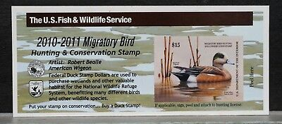 2010 US Federal Duck Stamps $15 American Wigeon RW77A