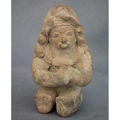 Ancient Jamacoaque Pre Columbian Ceramic Sculpure Figure 200-600 A.D.